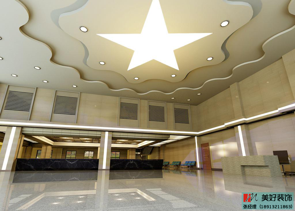 办公楼大厅设计出空间的宽敞感